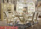 Set Kursi Meja Makan Mewah Dining Room Set Luxury White Terbaru