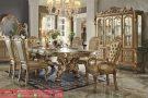 Set Kursi Meja Makan Mewah Dresden Gold Dining Room Table