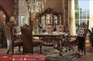 Set Kursi Meja Makan Mewah Jati Klasik Ukiran Terbaru